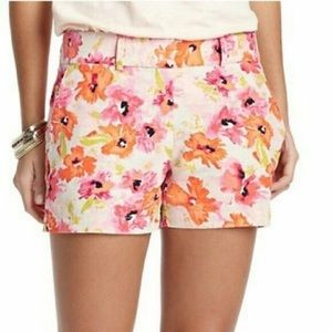 Loft Watercolor Floral Linen & Cotton Shorts
